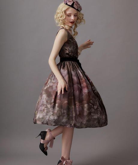 【Mサイズ】Antique bouquet ジャンパースカートⅢ