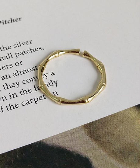 silver925 gold coating ring