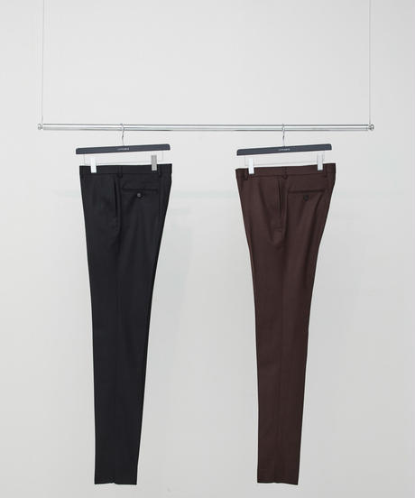 Flannel Slim Trousers