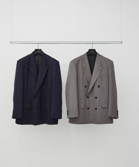 Twill Double Breasted Jacket