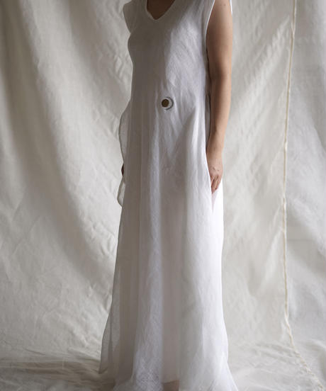 kaya linen flow F/S OP WHITE