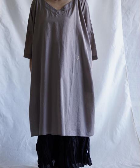 cotton 7/S moon square tunica  L/GRAY