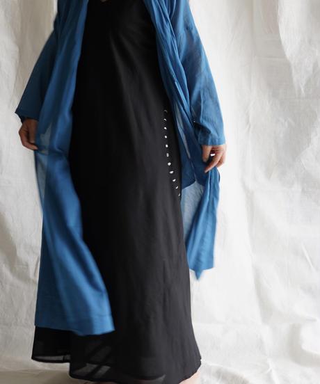 moon circle cotton HAORI coat TURQUOISE
