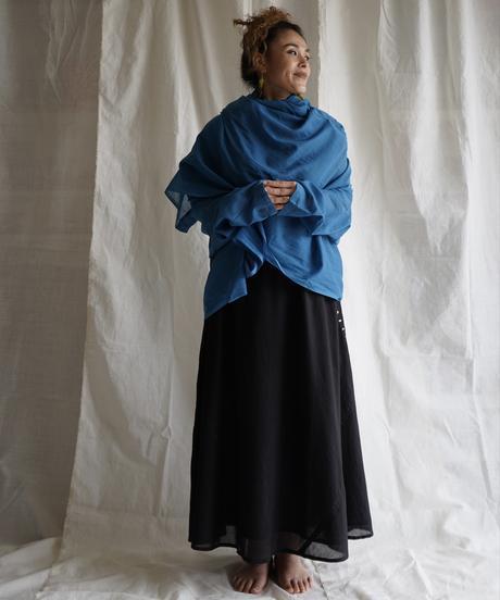 moon circle cotton HAORI coat GRAY