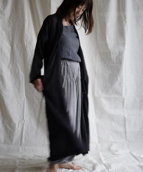 moon circle cotton HAORI coat BLACK