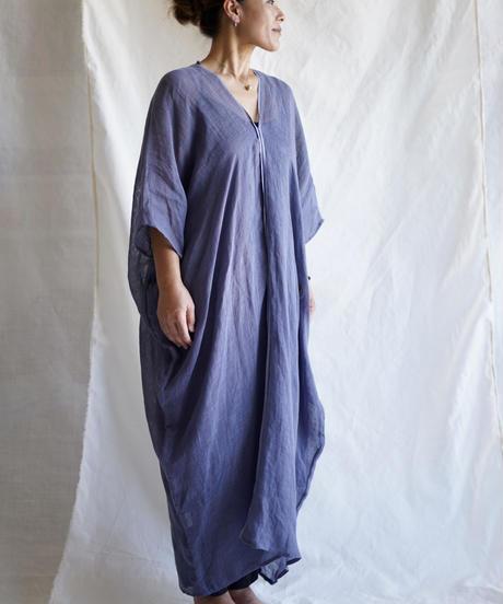 kaya linen wide OP  BLUE