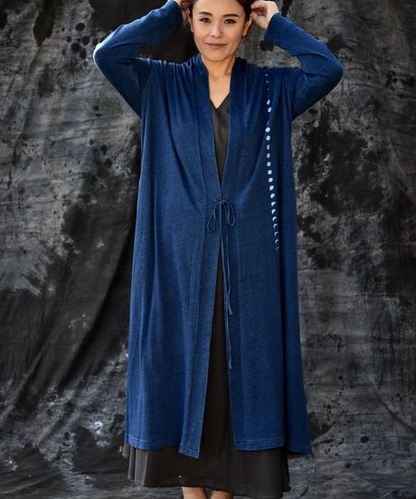 Len  unisex HAORI Long coat indigo