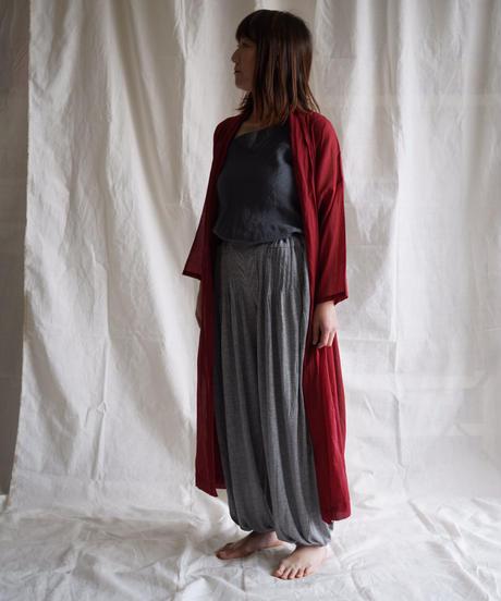 moon circle cotton HAORI coat RED