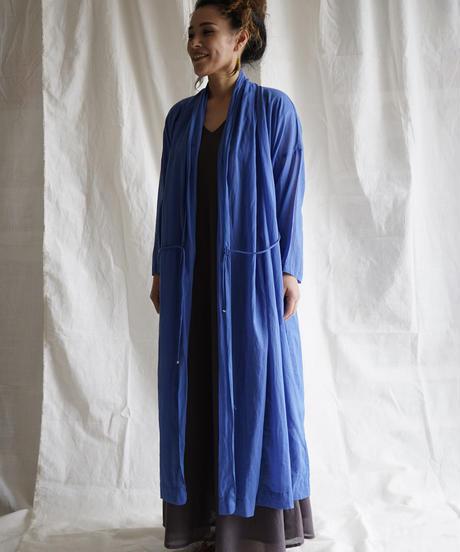 moon circle cotton HAORI coat BLUE