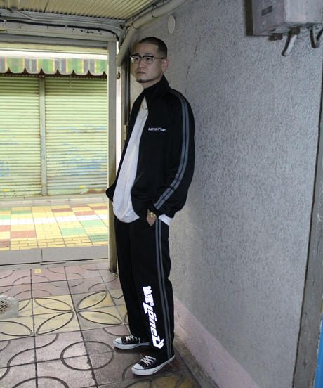 LONELY論理#16 BOXISM 2LINE JERSEY TRACK PANTS