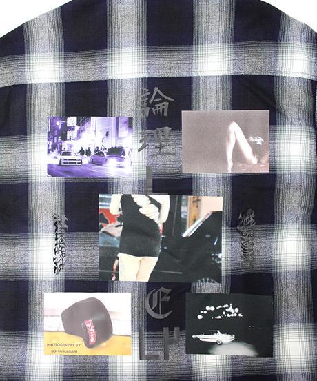 実話ナックルズ公式コラボ CHIMI MOU RYOW  CHECK SHIRTS