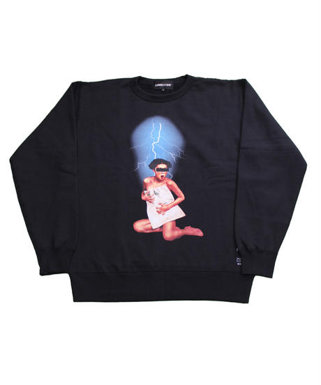 LONELY論理#16 THUNDER ONNA CREW NECK