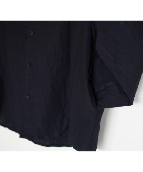 Linen-cotton wide standard shirt