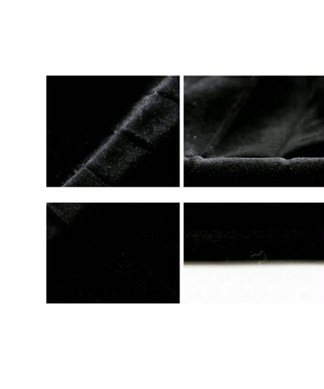 ハートがアクセントプリーツで動くベロア素材ロングスカート2色