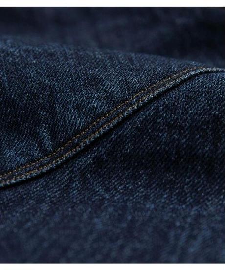 肩幅広め曲線シルエットコットンオーバーサイズデニムジャケット