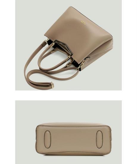 上品なフォルムハンドバッグ/フェイクレザー5色