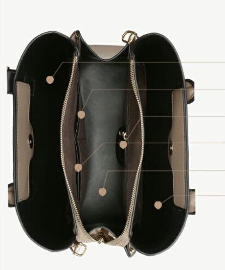フェイクレザーベルトハンドバッグ/ディテールがおしゃれ4色