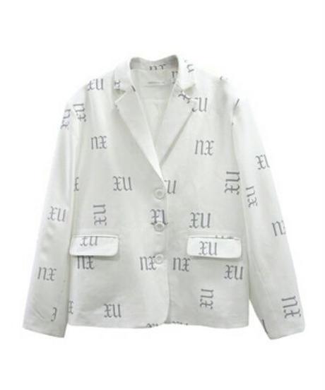 ユニセックス光るロゴ/オーバーサイズテーラードジャケット