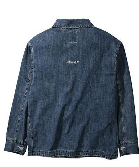 ユニセックス/フロントポケット豊富/バックロゴ/デニムジャケット