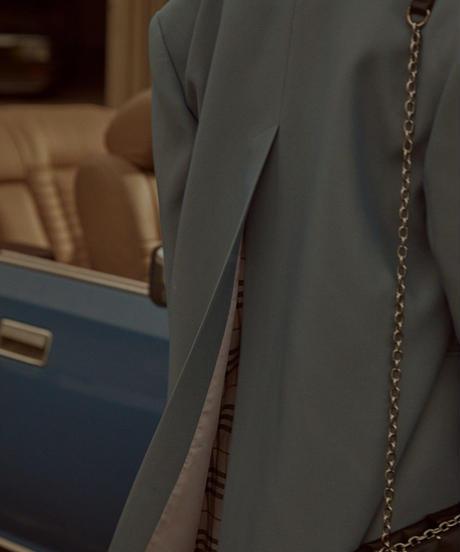 バックシャンスリットラフなオーバーサイズテーラードジャケット