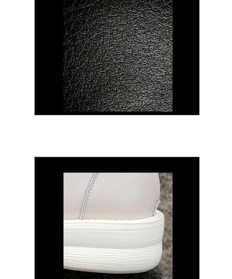 安定感〇レースアップレザーロングブーツ2色