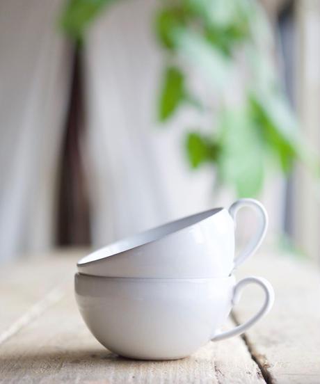 藤山窯 / スープカップ - ミルク - プレーン