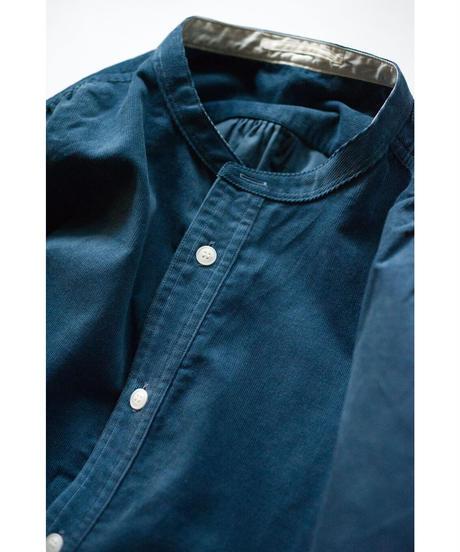 Handwerker /  collerless shirt - コーデュロイ - Blue