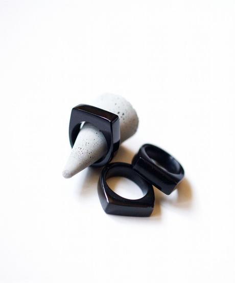 horn ring 06 / BLACK