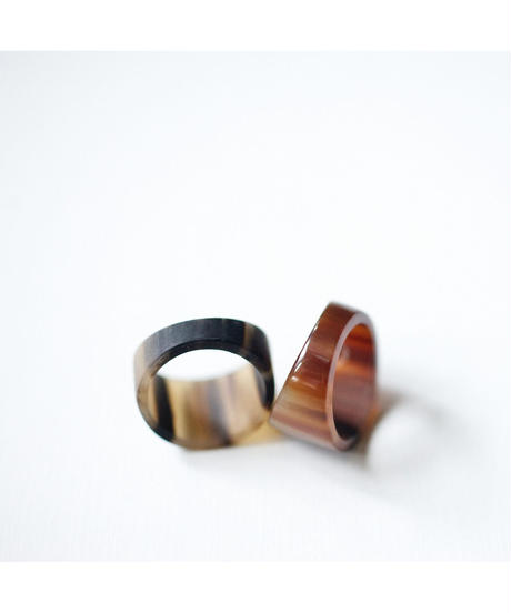 horn ring 07 / shinny surface finished
