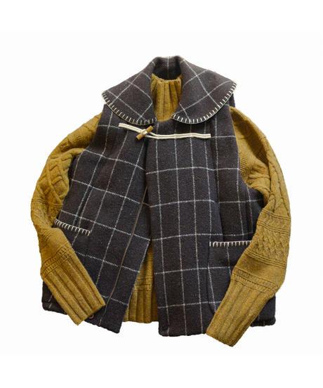 ASEEDONCLOUD /  Lifesaving vest (Nontical chart blancket) - Dark Brown