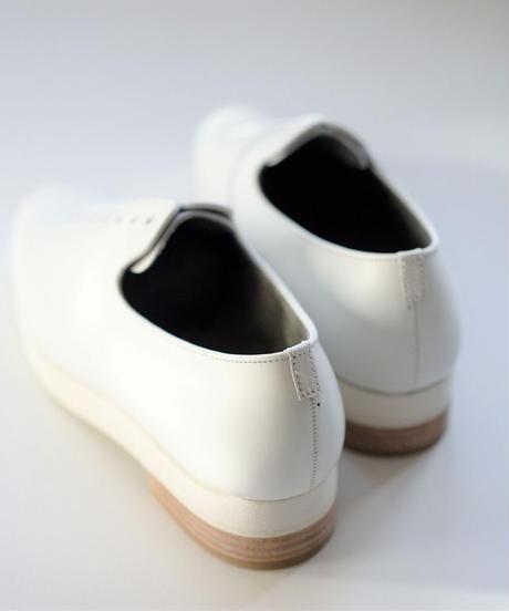 ISHMM /  7HOLE SHOES -WHITE - Lady's