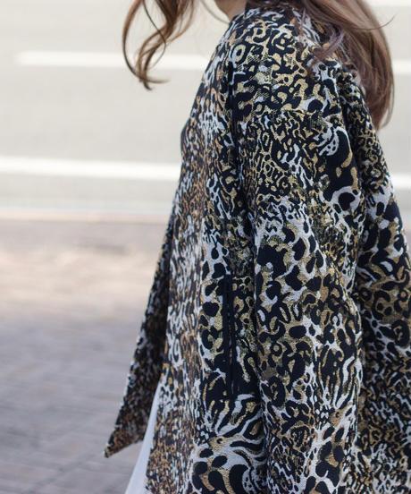 Tailor the dress / Collarless Jacket - Tiger Jaquard