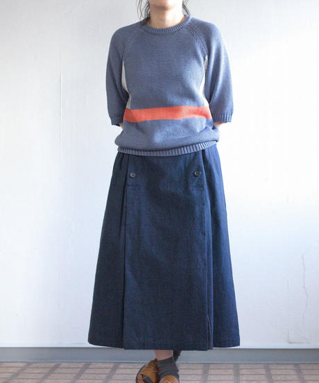 ASEEDONCLOUD /  working skirt - NAVY