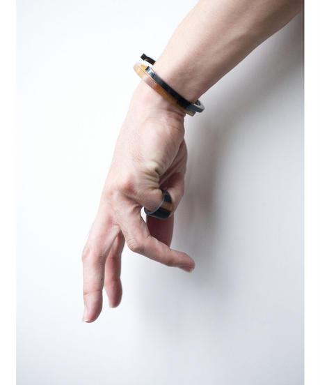 horn bangle 09 - BLACK