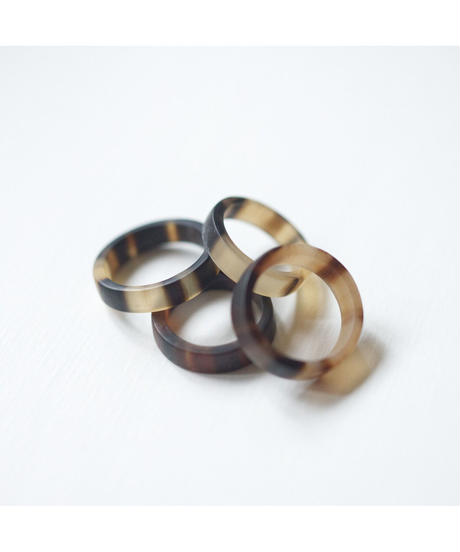 horn ring 05 / Mat surface finished