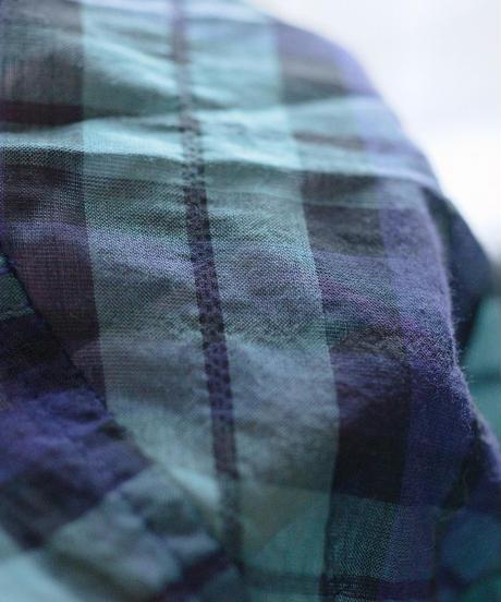 MUYA / Atelier shirts relax stand collar - Blackwatch
