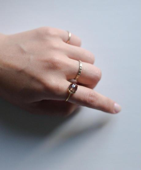 jemstone ring - スモーキークォーツ - 大