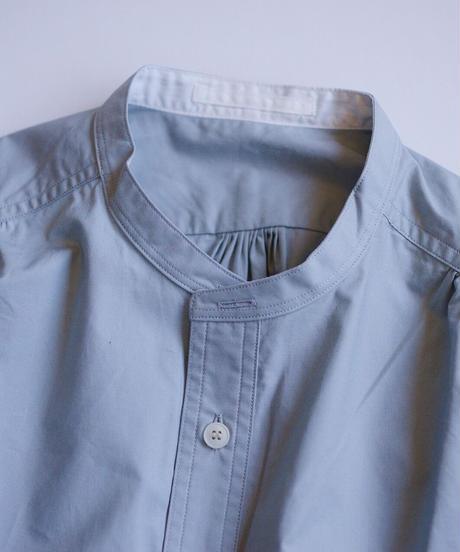 Handwerker /  collerless shirt - Bluegray