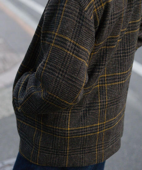 Tailor the dress / Collarless Jacket - Vintage Shetland Brown Check