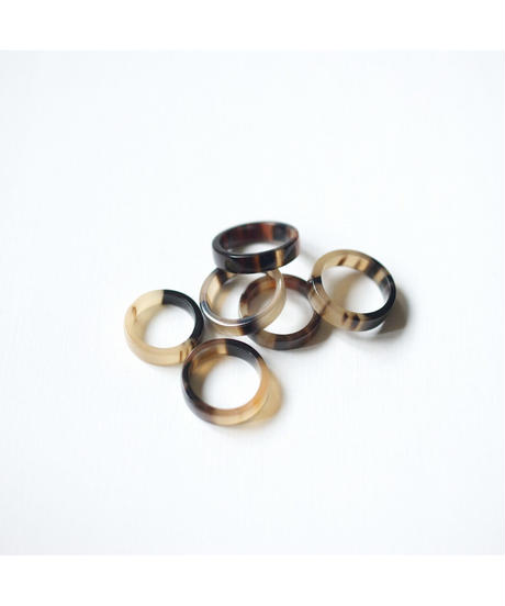 horn ring 05 / shinny surface finished