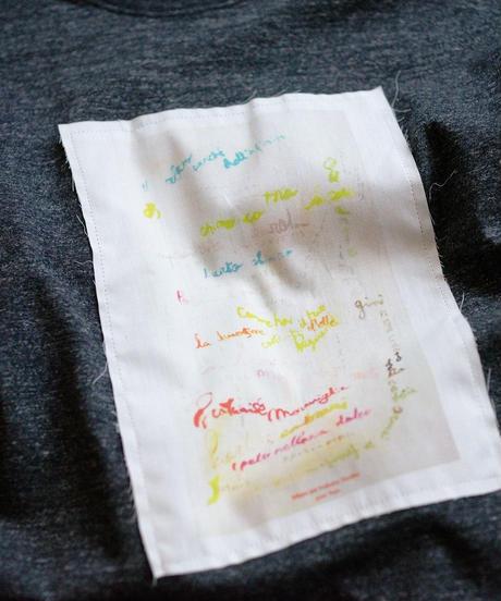 <2色展開> Nanako Oka with niclao federico ×  ajouter / コラボT / 12の詩