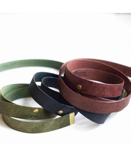 <3色展開> Leather Belt - ガチャベルト