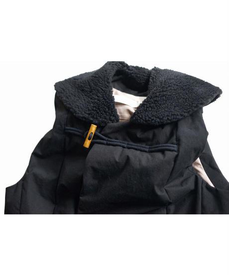 ASEEDONCLOUD /  Lifesaving vest (Oild sail cotton) - Black