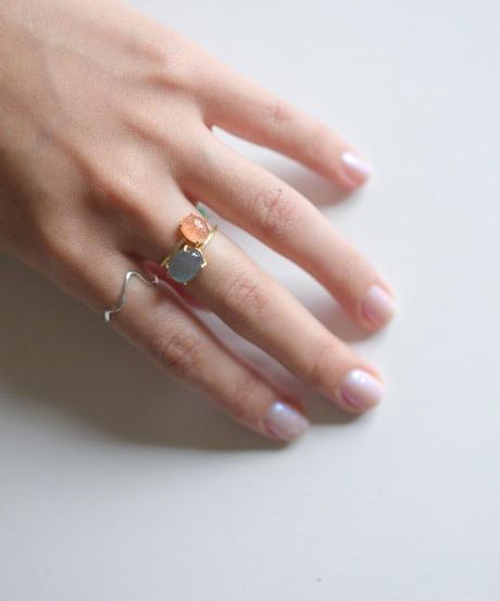 jemstone ring - ラブラドライト - 大