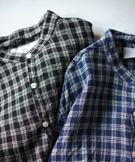 MUYA / Atelier shirts relax stand collar - Navy