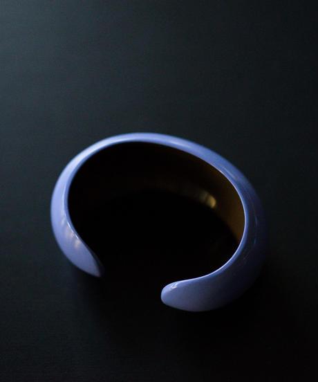 horn bangle 06 - round all bluepurple