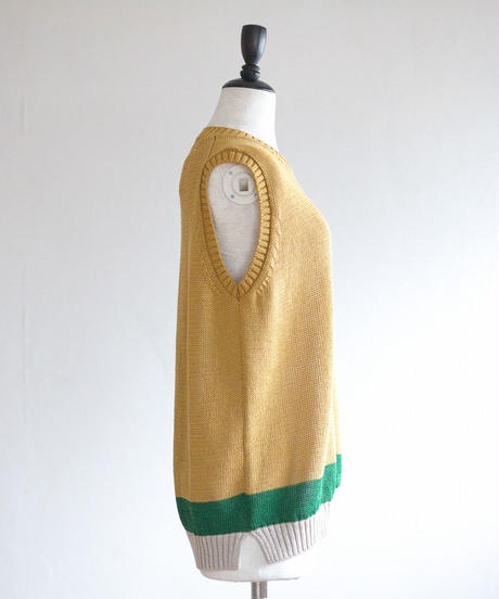 ASEEDONCLOUD /  Knit Vest - YELLOW