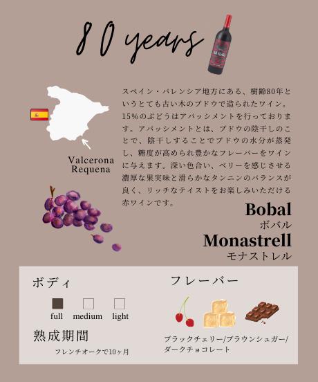 トレオリア 80YEARS(赤ワイン) 750ml
