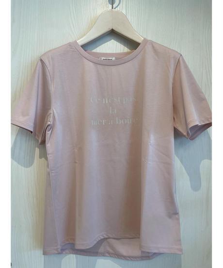 大人ニュアンスカラーのプリントTシャツ