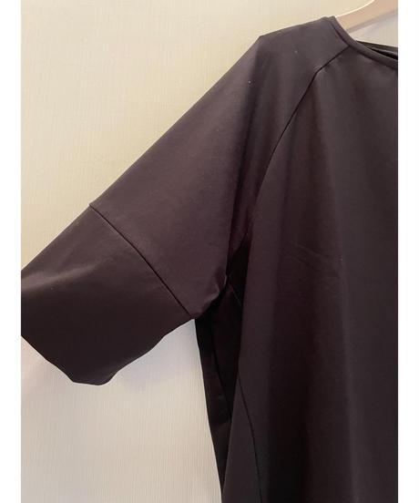 袖切り替え裾ゴム入りカットソー